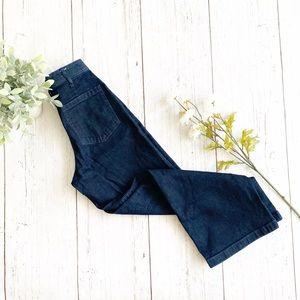 GAP • high rise wide leg navy trouser